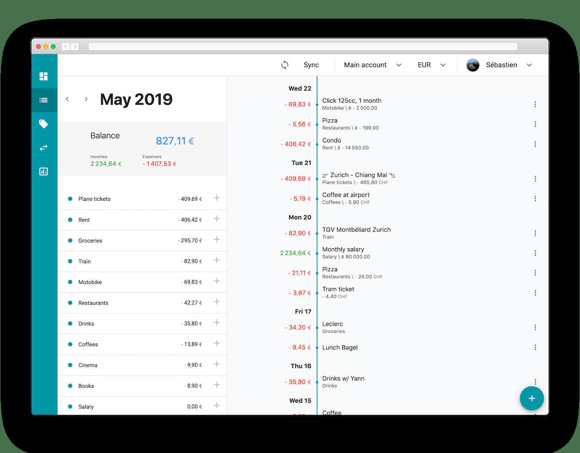 Seven23 transactions desktop