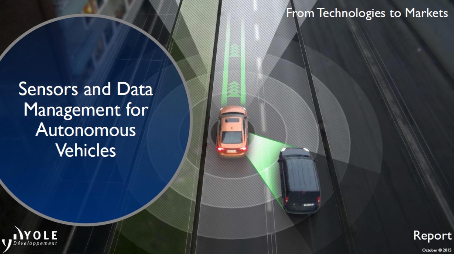 Sensors data management autonomous vehicle - Yole Developpement