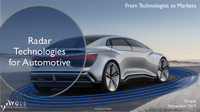 radar technologies for automotive 2018 report by yole dveloppement couv