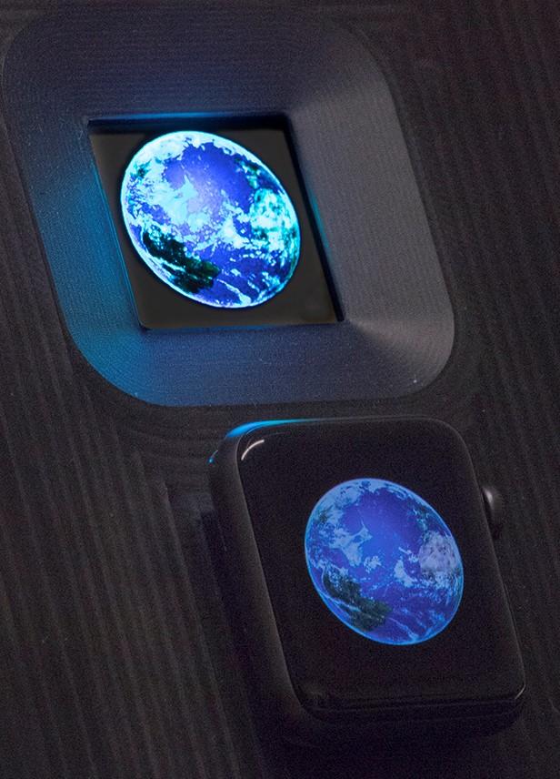 earth glo microled displays LTPS backplane
