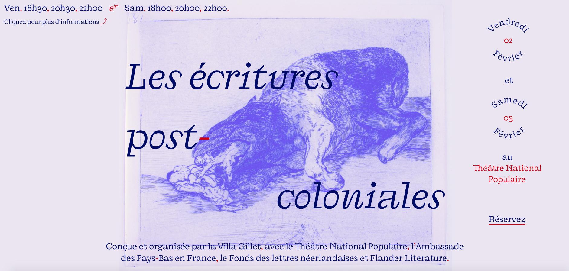 Les écritures postcoloniales http://www.villagillet.net/affiche/ecritures_postcoloniales/