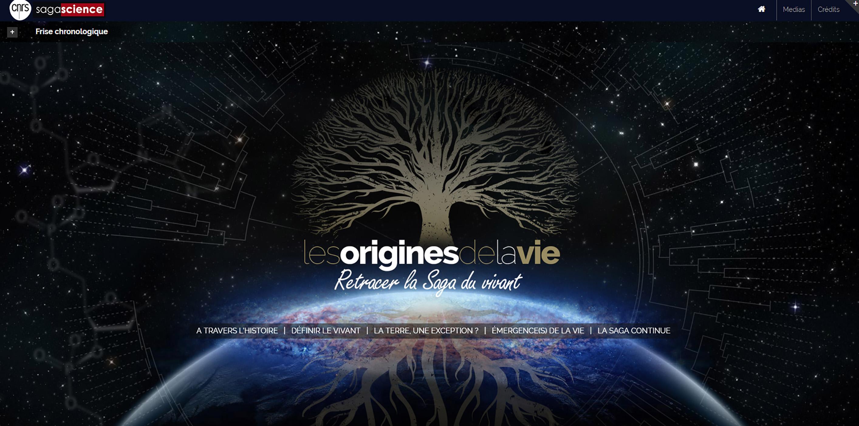 Site Les origines du vivant - CNRS/sagascience