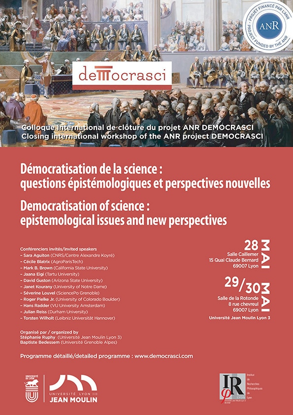 Démocratisation de la science - colloque international ouvert à tous