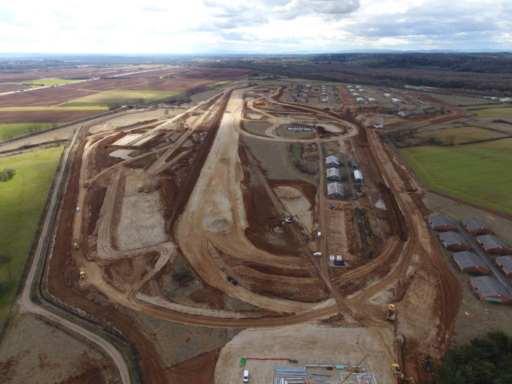 Vue aérienne du site de Transpolis en travaux - @Transpolis