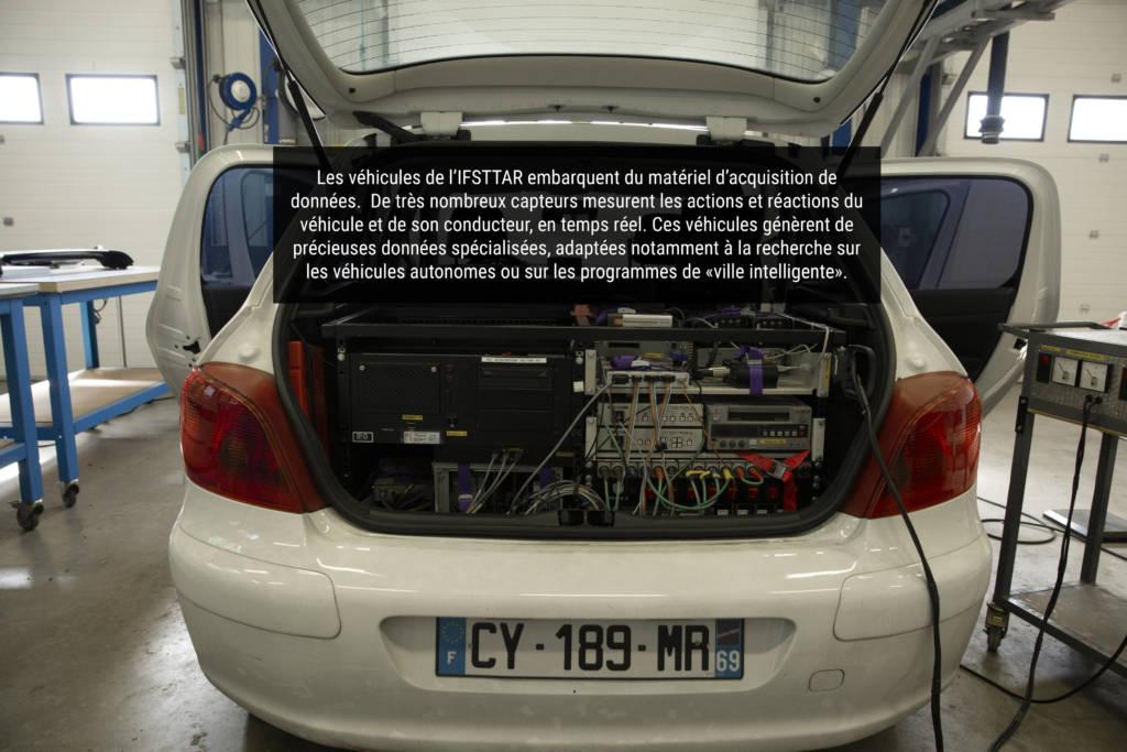 Vue détaillée, véhicule autonome de l'IFSTTAR | @Visée.A