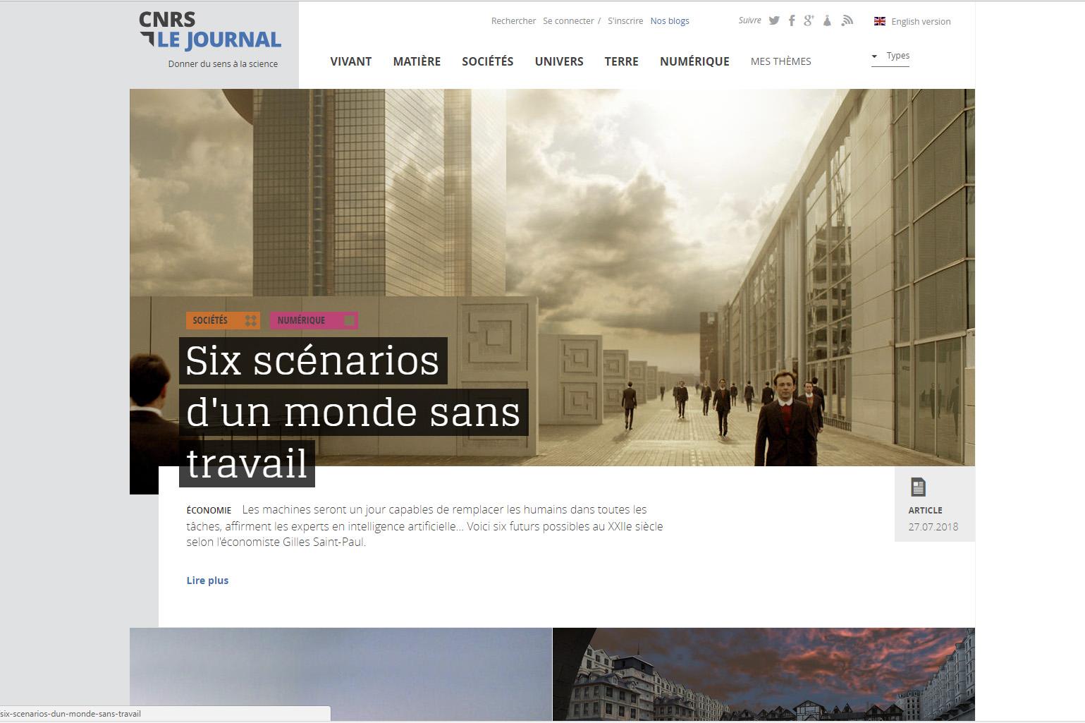 Site CNRSLEJOURNAL.FR