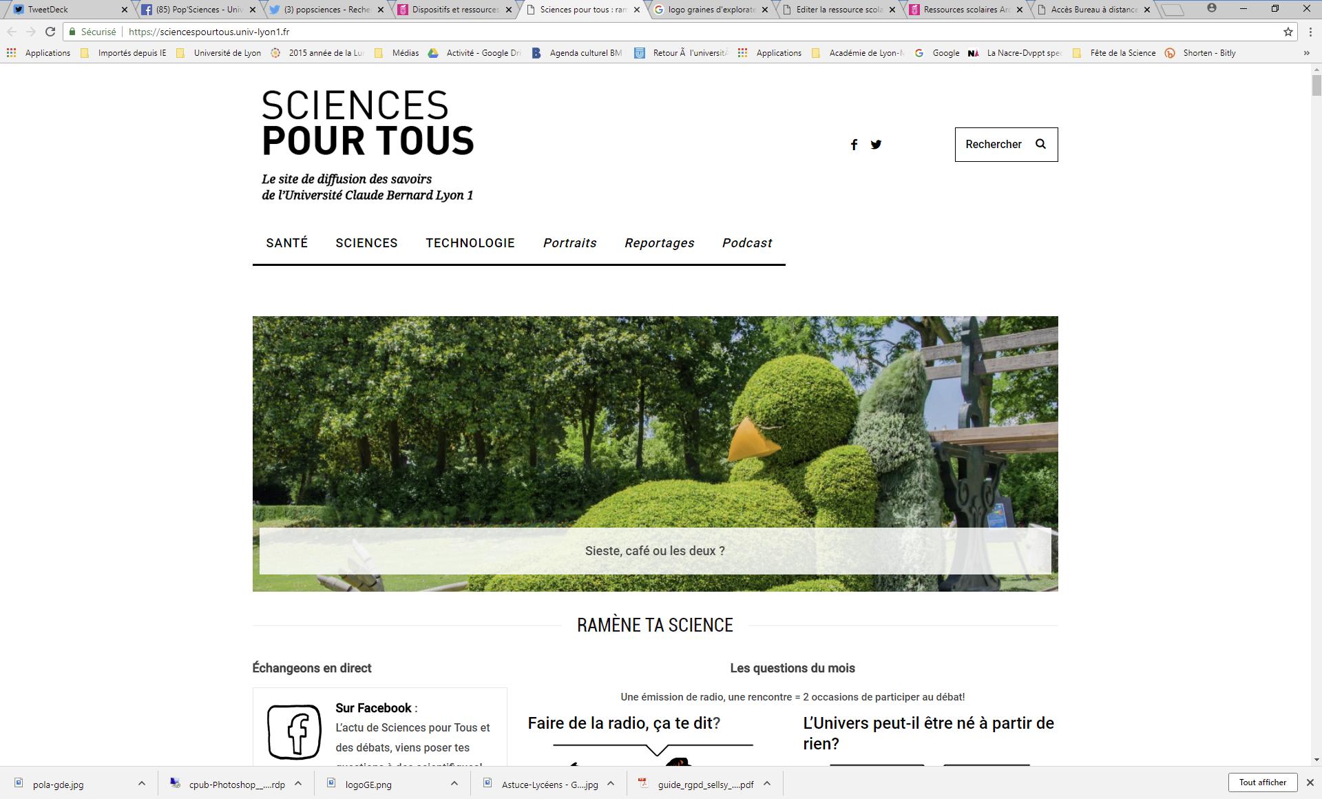 Site Sciences Pour Tous - Université Claude Bernard Lyon 1
