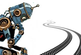 illustration Robot penseur