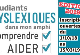 """Ouverture des inscriptions du MOOC """"étudiants dyslexiques dans mon amphi"""""""