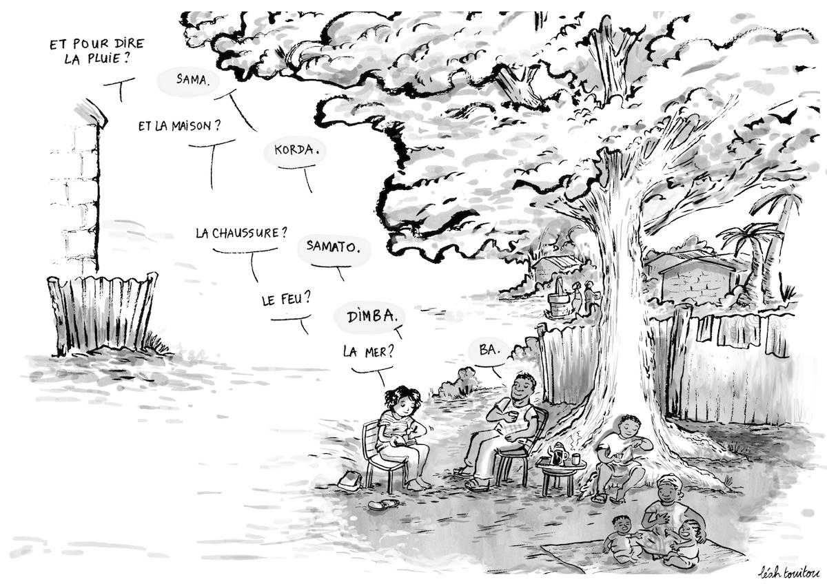 Illustration langues en danger