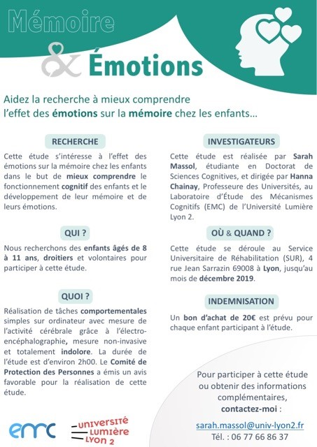 Flyer Mémoire & émotions-Appel à participation