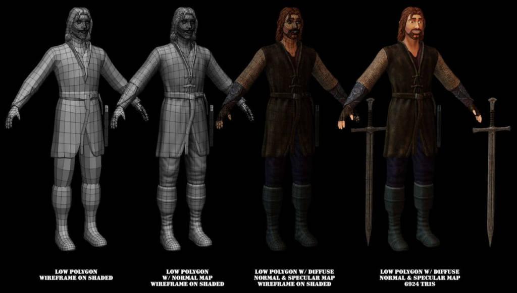 Image montrant la réalisation de personnages de jeux vidéos