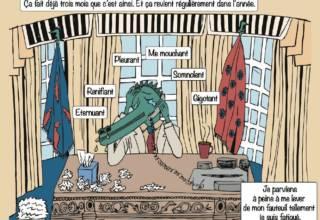 Visuel de la BD de Alice Paillard sur Rjinite allergique