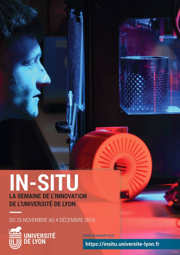 Affiche In-Situ, semaine de l'Innovation de l'Université de Lyon