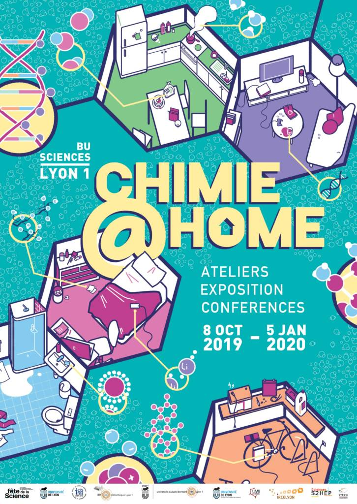 Affiche exposition Chimie@home