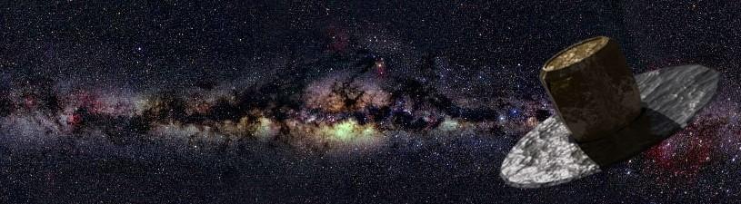 Voie lactée et satellite Gaïa