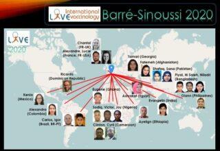 carte du monde montrant l'origine des étudiants en vaccinologie