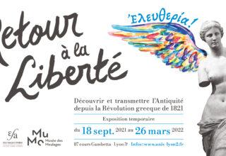 affiche de l'exposition du MuMo : Eleuthéria ! Retour à la liberté