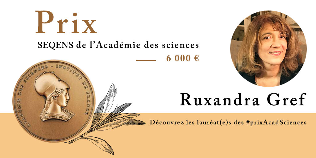 Ruxandra Gref awarded with the Seqens Prize of the French Académie des Sciences