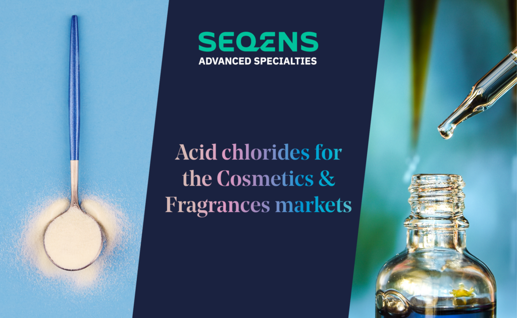 Acid chlorides for the cosmetics and fragrances markets