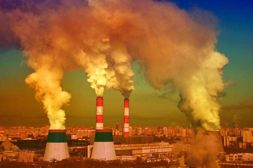 Industrial smokes responsible for acid rain