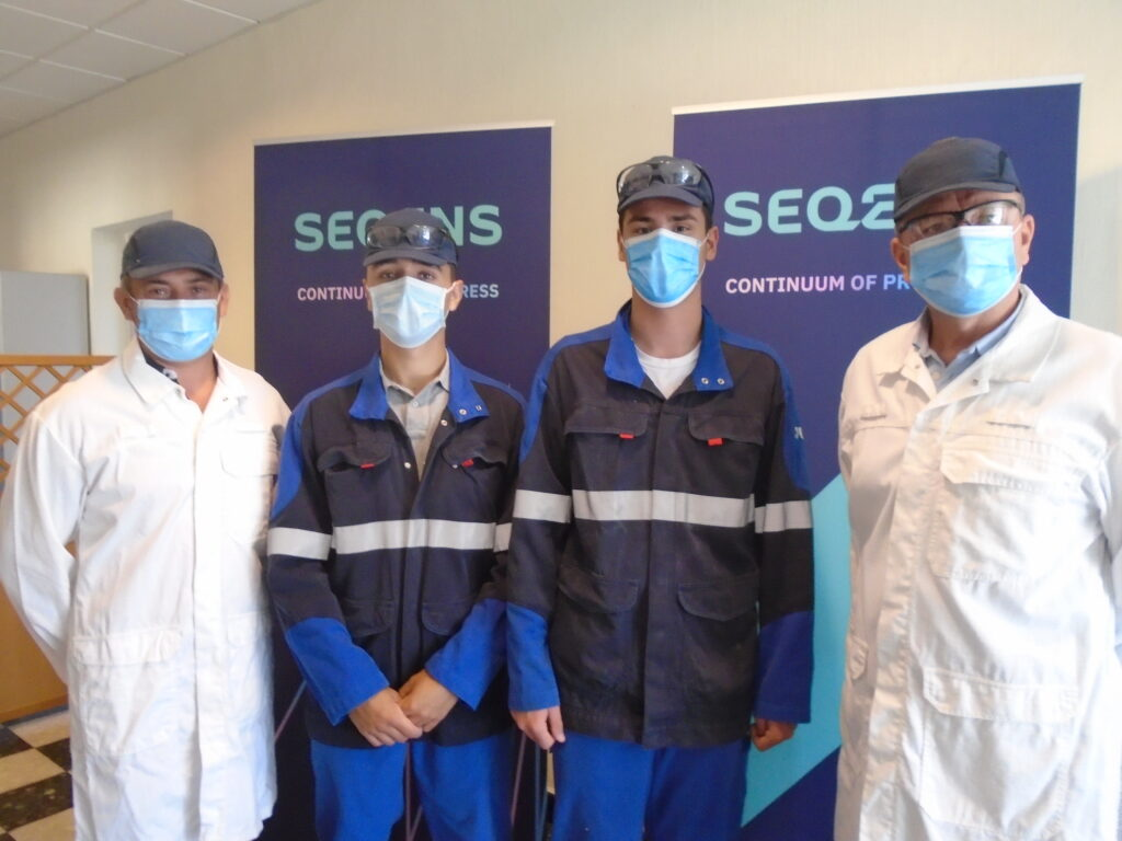 trainees from bourgoin production site
