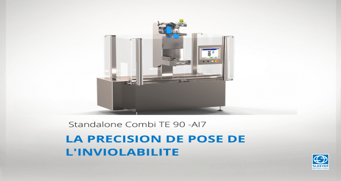 A packaging machine to ensure the precision of the tamper-evident application on glass bottles and flasks.