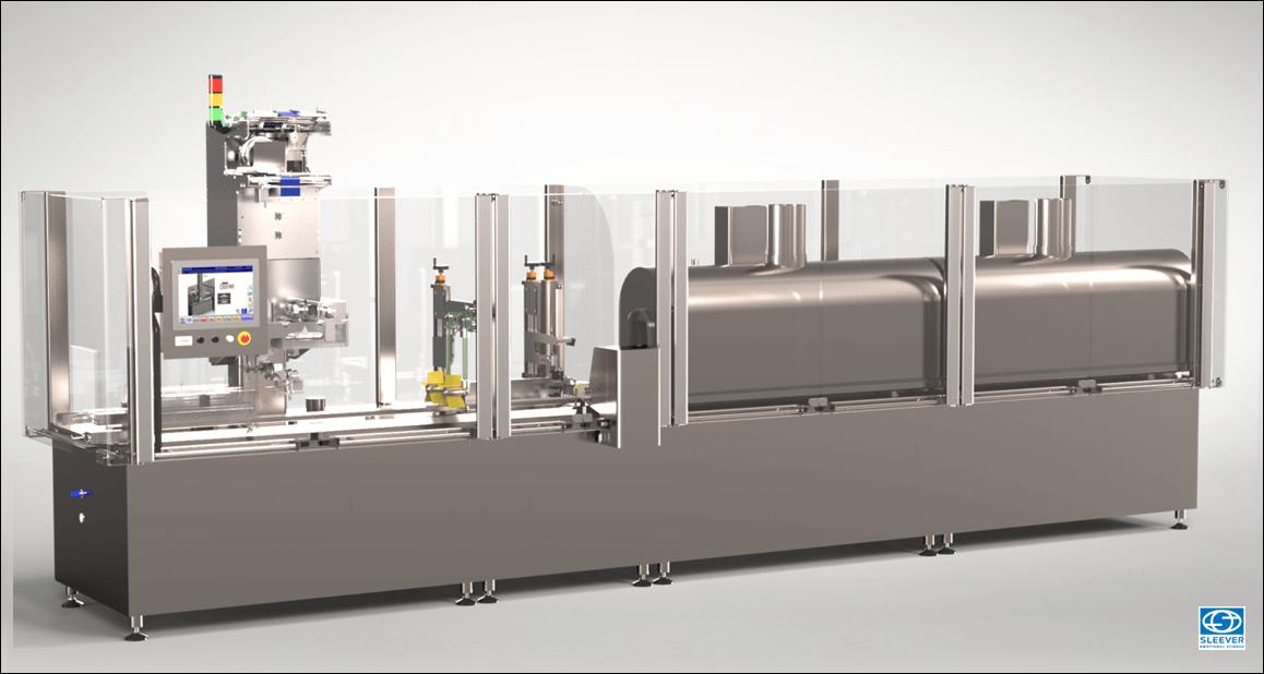 Une Machine de conditionnement Combisteam LDPET, pour l'étiquettage de bouteilles PET de manière durable