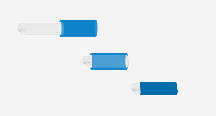 Visualisation de l'application et rétraction d'un Sleeve rétractable sur un petit objet de type briquet