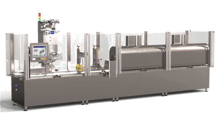 The Combisteam FB400 packaging machine is adapted to your packaging operations in aseptic environment