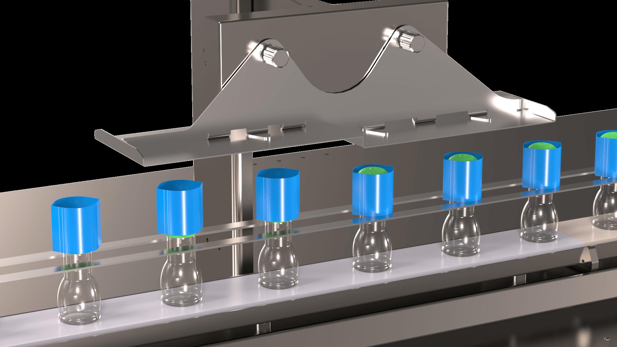 Pose et Application d'un Sleeve Partiel d'inviolabilité sur le col des bouteilles