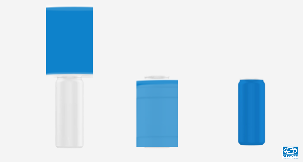 Application de l'étiquette intégrale Sleeve et sa rétraction sur une cannette d'aluminium