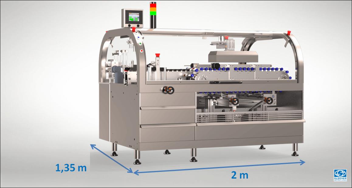 Une surface au sol optimisée grâce à une Machine de conception compacte