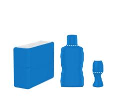 Formes de contenant pouvant recevoir un emballage Sleeve avec la Machine Combiskinner