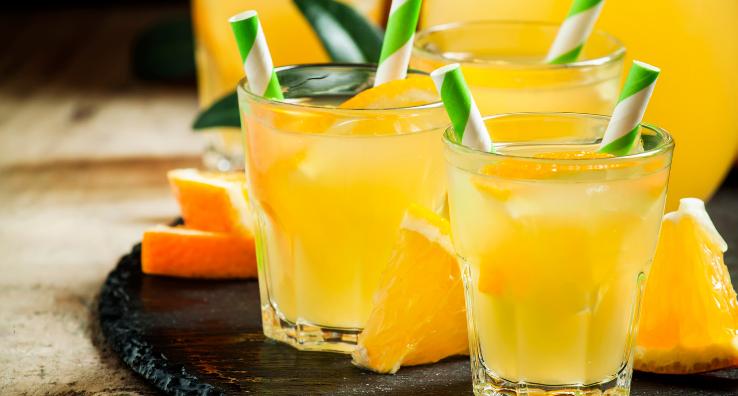 Natural and Fresh Orange Juice