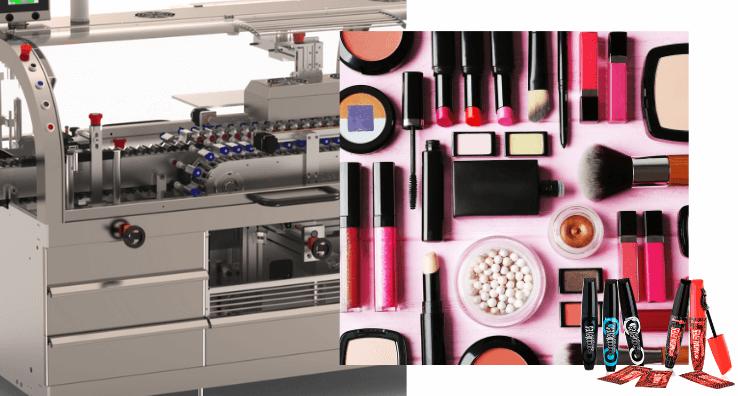 Une machine de conditionnement pour les produits de Beauté et maquillage conditionné horizontalement