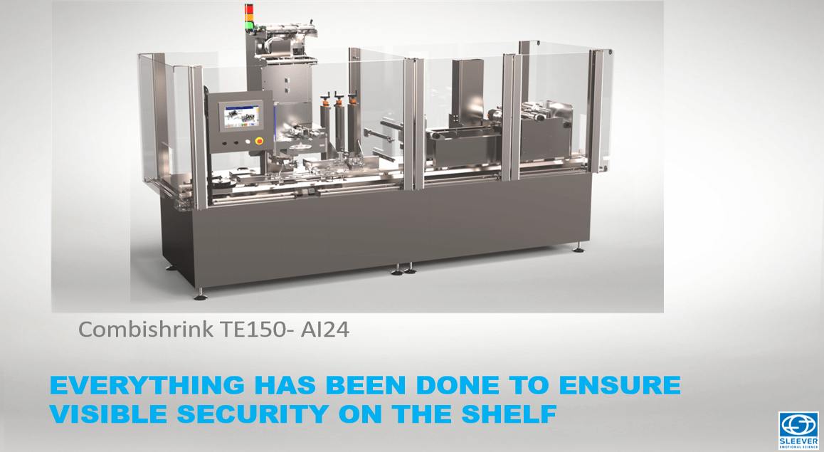 The Combishrink TE150 packaging machine to guarantee the efficient tamper proof of your products
