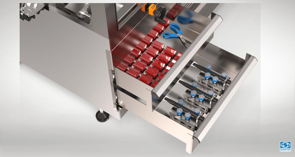 Des changements de formats assurés par des tiroirs de rangement d'outils ergonomiques