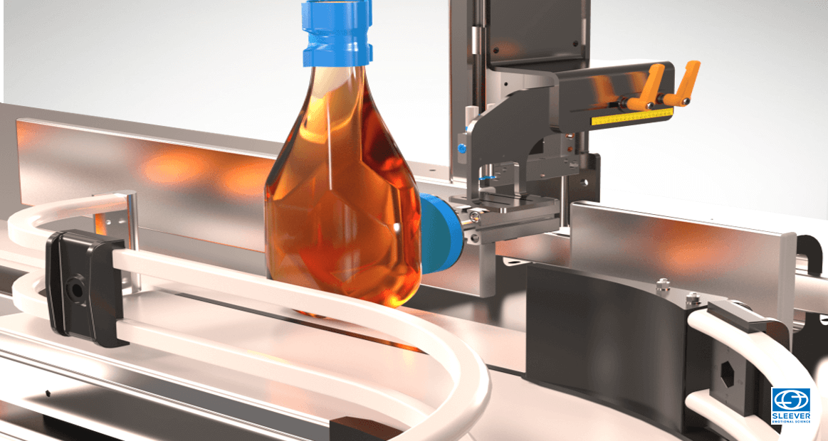 A module of control and delicate ejection allows to preserve the product and bottle