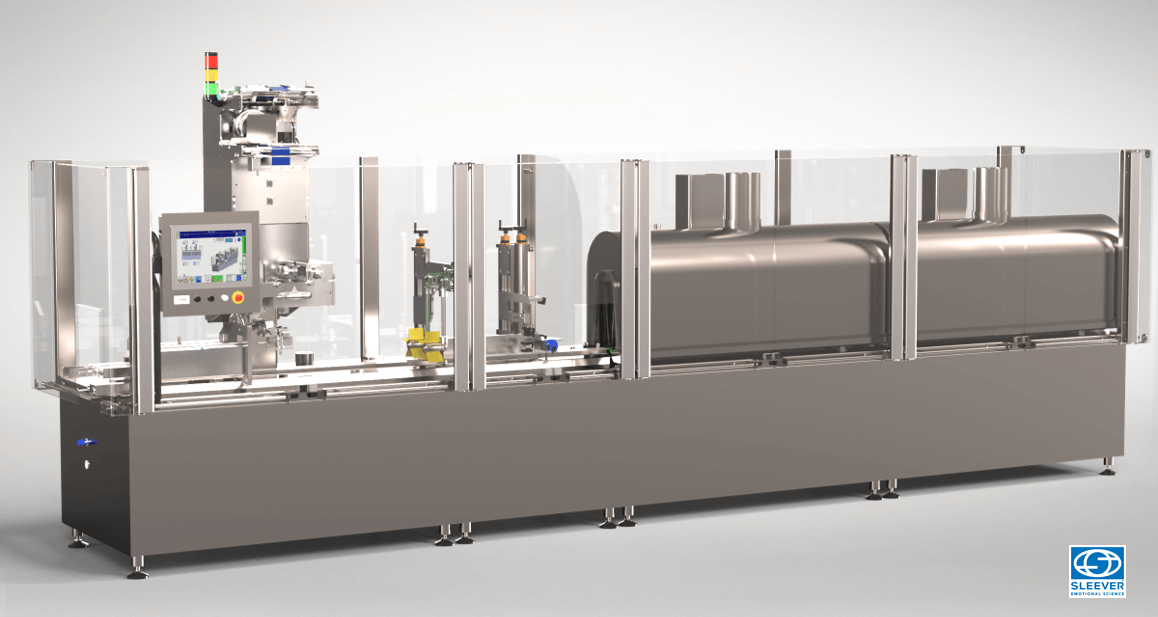The Combisteam Decoglass FB200 packaging machine is a modular equipment for your packaging and labelling operations of Glass recipients