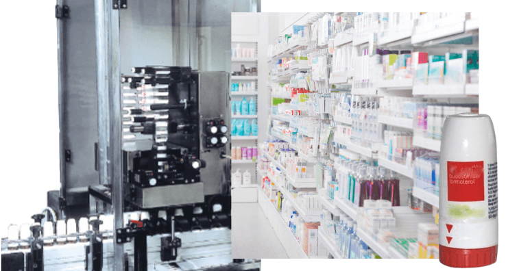 Une Machine pour garantir un Sleeve sécuritaire d'inviolabilité sur des produits pharmaceutiques