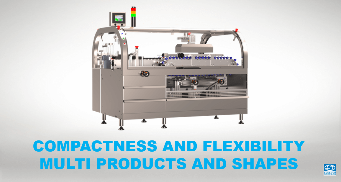 A compact and flexible equipment adapting to the multiple formats and shapes of small beauty and make-up products