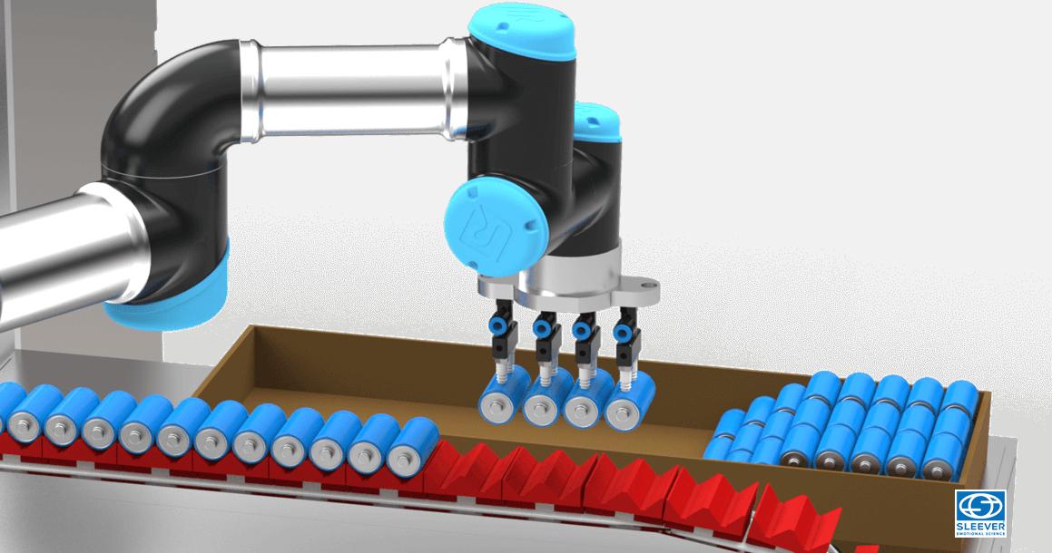 Module de déchargement automatique des produits par bras robotisé
