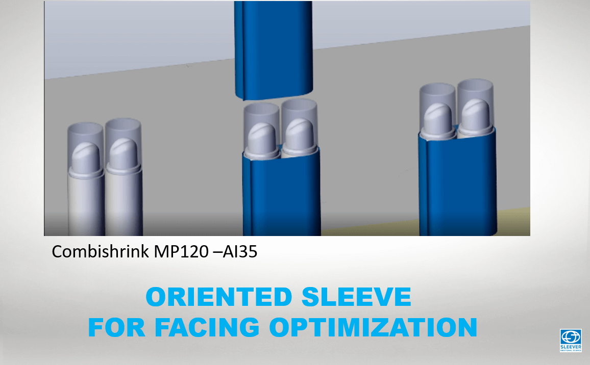 Visualisation of the application of the Bundling Shrink Sleeve Label on two grouped products