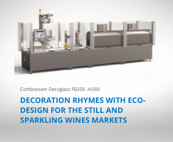 The Combisteam Decoglass FB200 packaging machine for your labelling operations on glass containers