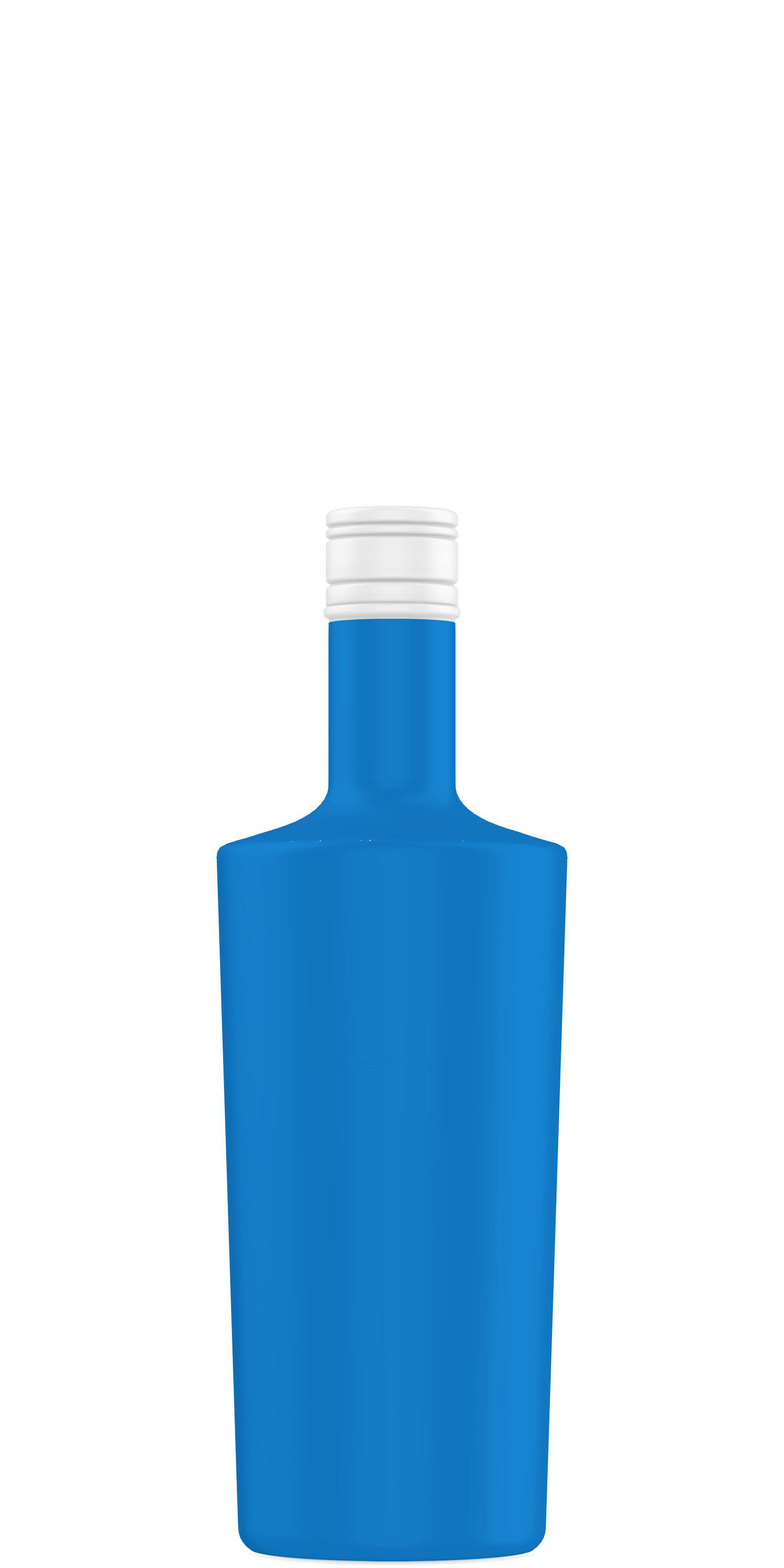 Packaging shape of rhum 70cl to 75cl