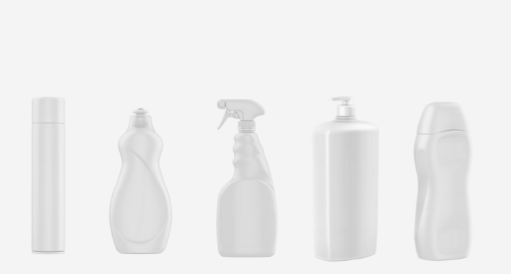 Packaging Shapes of cleaning and hygiene products for the home