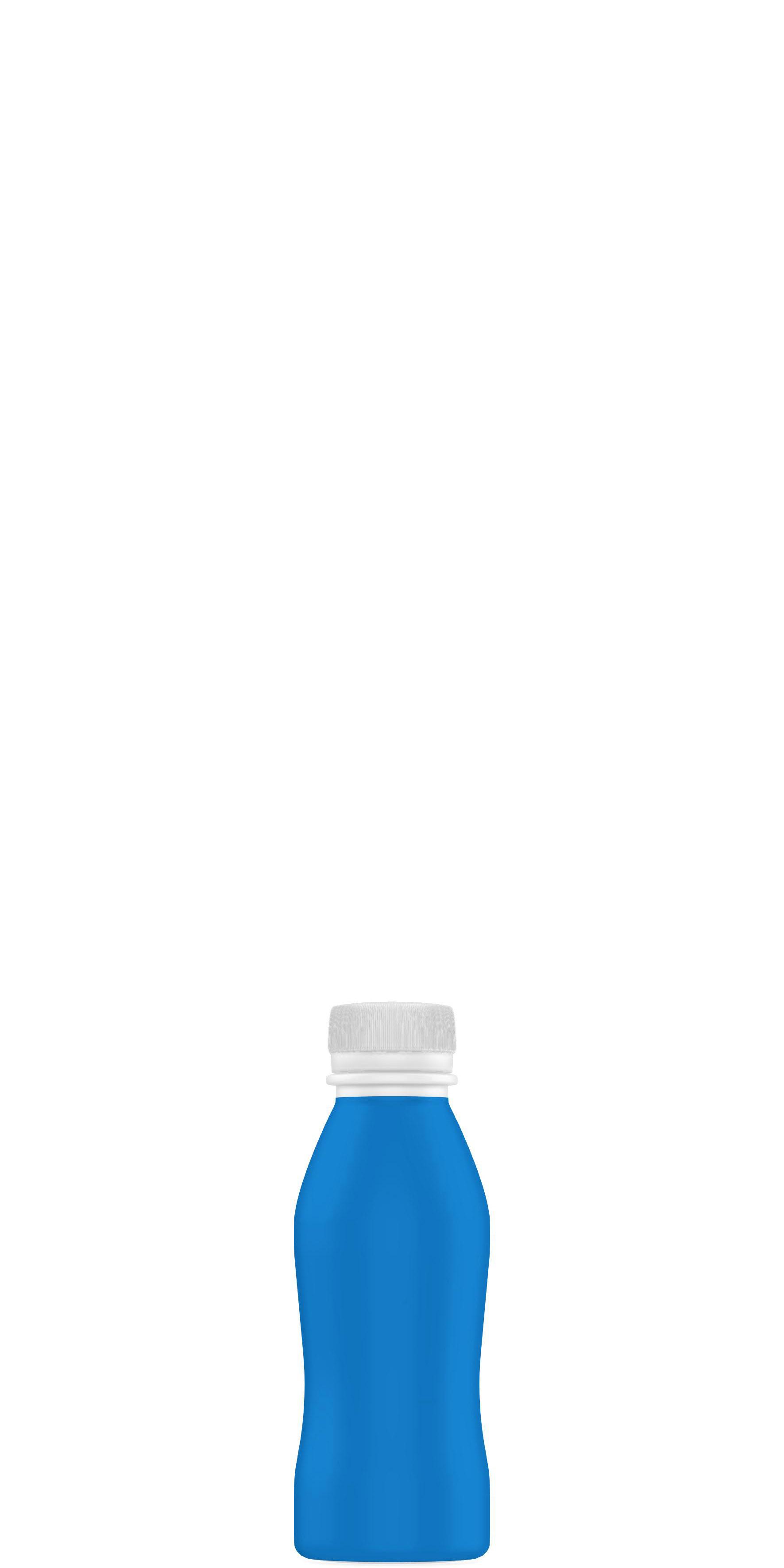 Packaging shape of functional yogurt 10 to 20cl