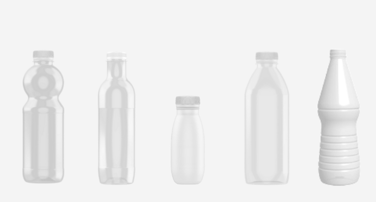 PET bottle packaging shapes for the dairy and liquid food markets