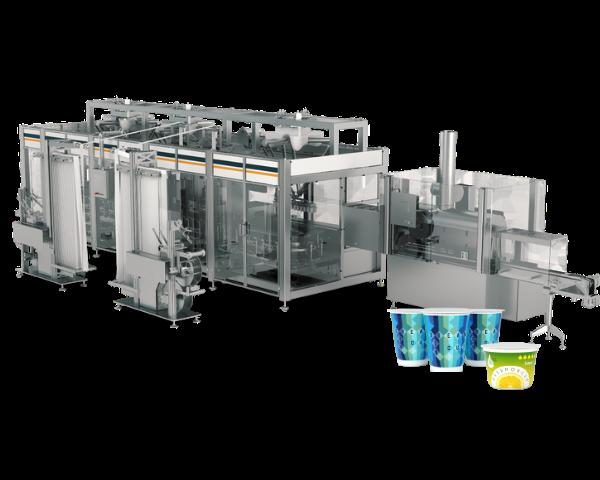 Une Machine de conditionnement unique pour la différenciation retardée des pots alimentaires après operculage